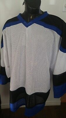 MENS XLARGE INARIA Hockey Jersey BLUE AND WHITE BLANK -  26.92 ... 105f1bb93b6