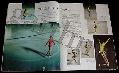 TENLEY ALBRIGHT at 20-YEARS-OLD 1956 FIGURE SKATING COLOR PICTORIAL ON THE ICE