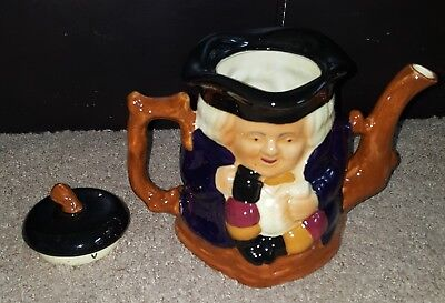 Staffordshire Shorter & Sons Two Faced Toby Teapot Vintage