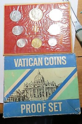 1974 Vatican  Proof Coin Set With Silver