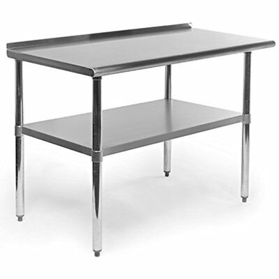 Gridmann Stainless Steel Commercial Kitchen Prep & Work Table With Backsplash, X