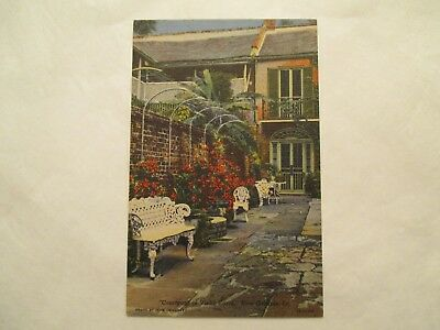 Courtyard in Vieux Carre New Orleans Louisiana LA Postcard