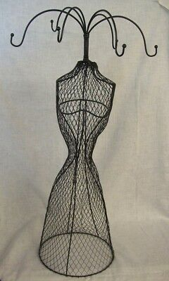 "Store Display Fixtures NEW WIRE MESH BODY FORM 6 ARM JEWELRY DISPLAY 27"" tall"