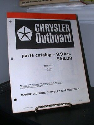 1978 Chrysler Outboard 9.9 HP SAILOR Parts Catalog OB3190 Very Good - 24 Pages