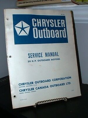 1978 Chrysler Outboard 20HP Service Manual OB979 Fair-Good