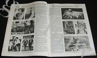 Will Rogers & Wiley Post 1935 Alaska Flight Death & Life Pictorial Feature