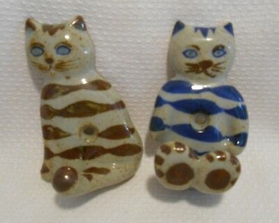 Vintage Handpainted Takahashi  Pottery CAT Coat Key Hook San Francisco Japan