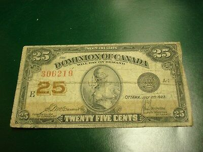 SHINPLASTER - 1923 - Canada - Canadian 25 cent note - 306219