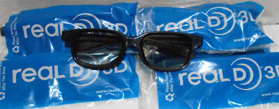 100 New Pair of  ADULT REALD REAL D 3D MOVIE THEATER GLASSES