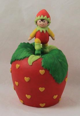 Avon Strawberry Elf Porcelain Bell Hearts Delight 1993