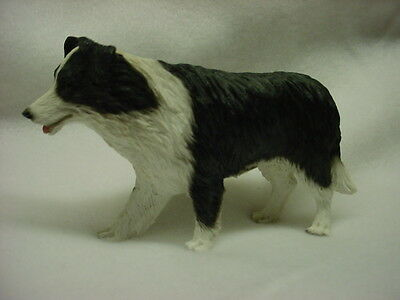 BORDER COLLIE Figurine HAND PAINTED DOG Resin Statue COLLECTIBLE Puppy NEW