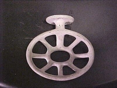 Vintage White Porcelain Cast Iron Wall Mount Soap Dish from Old Bathroom