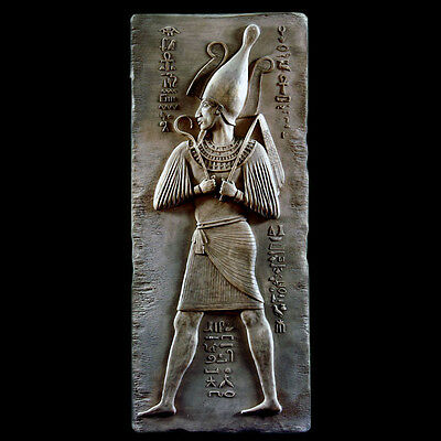 Osiris ancient Egyptian Wall Relief Sculpture Plaque reproduction replica