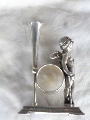 Antique Victorian Wilcox Silverplate Cherub Cupid Bud Vase Napkin Ring Holder
