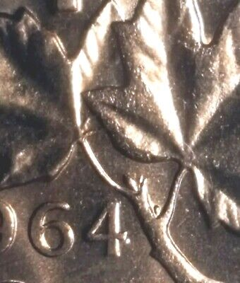 Canada 1964 Small Cents *Extra Spine Variety* Gem BU UNC Penny!!