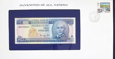 BARBADOS - 1990 - TWO DOLLARS - CU -  P30b - BANKNOTES OF ALL NATIONS 7200