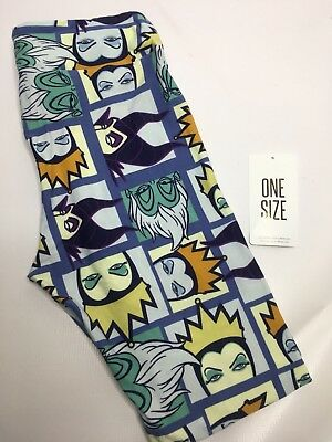 Lularoe New Leggings Os One Size Disney Villains Maleficent Evil Queen Ursula