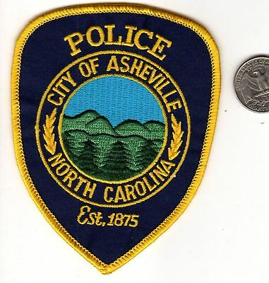 POLICE PATCH State of North Carolina City of Ashville NC Badge