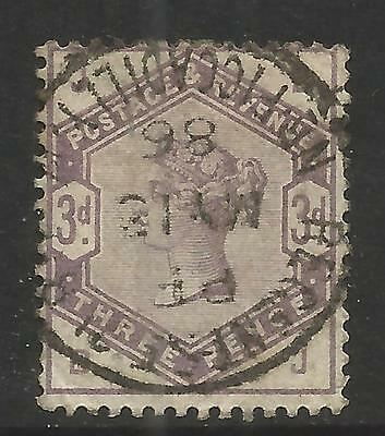 GREAT BRITAIN 1883 3d Lilac , WMK 49  S.G 191, USED (o)
