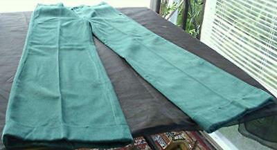 VTG 1960's/70's LEE GREEN BELL BOTTOM/FLARE CABLE CUFF JEANS PANTS 34L OT