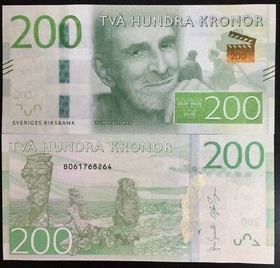 Sweden 200 Kronor 2015 P 72 New Design Unc