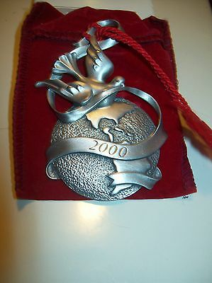 Avon Pewter Christmas Ornament 2000 with Box