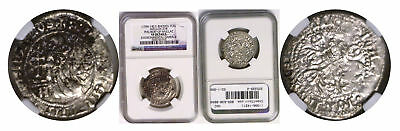 (1396-1421) Rhodes. Silver Gigliato. Philibert of Naillac. NGC VF details