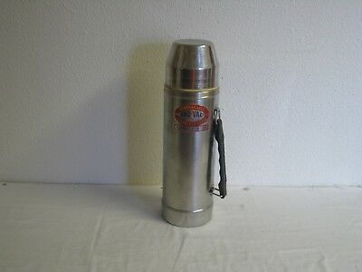 Vintage  UNO-VAC Unbreakable Stainless Steel Thermos 1 Qt.