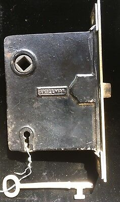 "Antique VINTAGE ""SKILLMAN""MORTISE LOCK with Working Skeleton KEY"
