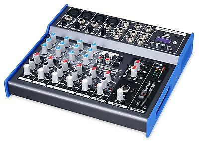 8-Kanal USB Studio Mischpult PA Mixer digital Bluetooth MP3-Player Phantom Power