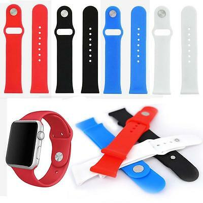 Silicone Gel Band Strap Bracelet Wristband for Apple Watch 42mm / 38mm Sport H *