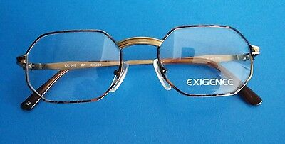 RETRO  1990s EXIGENCE    GLASSES  UNISEX    FRAME NEW  48/20  MADE  IN  ITALY  .