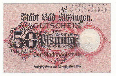Kissingen, Bad 50 Pf. 1917 Grab. K 27.1 b, Erh. I