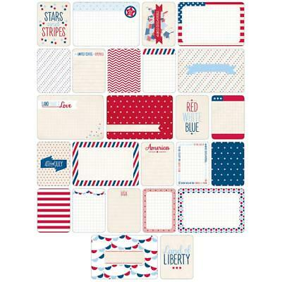 Becky Higgins Project Life Themed Cards - AMERICANA - Scrapbooking - 40 Cards