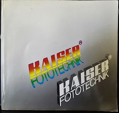Vintage 1986 Kaiser Fototechnik Photography Camera Accessories Catalog