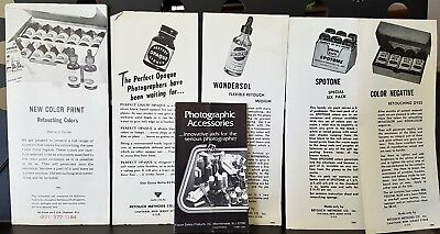 Vintage Collection of Photography Camera Accessories Flyers Brochure