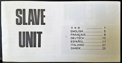 Vintage Sunpak 1976 Flash Slave Unit Manual Instructions Photography