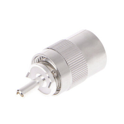 UHF Male PL259 Plug Solder RG213 RG8 LMR400 7D-FB Cable Connector Silver