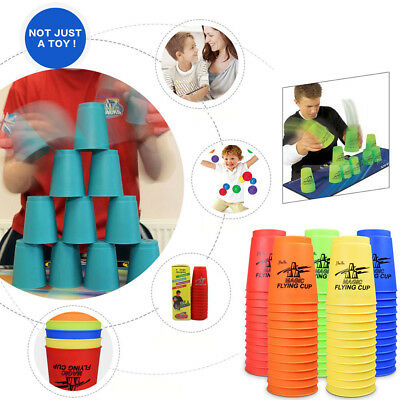 12pcs/set Magic Flying Cup Game Using The Competitive Sports Toys 9.5*8cm