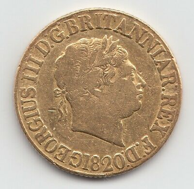1820 George III Gold Sovereign - Great Britain.