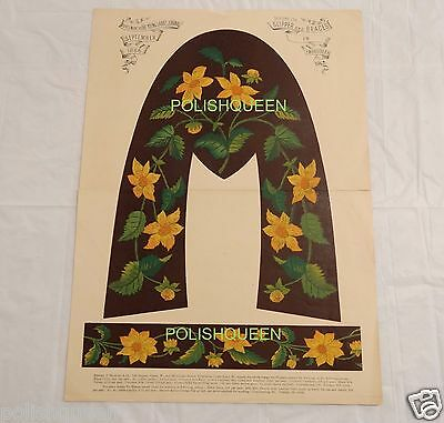 Antique 1886 Color Litho Pattern Floral Embroidery Slippers And Braces