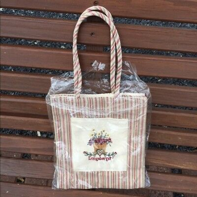 Longaberger Small Striped Tote NEW FAST FREE SHIPPING