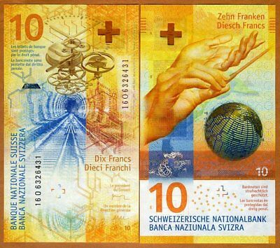 Switzerland, 10 Francs, 2016 (2017), P-New,  Spectacular Hybrid Polymer, UNC