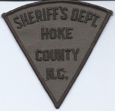 Vintage Sheriff's Dept Hoke County, North Carolina Embroidered Patch New Unused