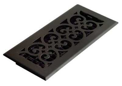 DECOR GRATES ST410 4x10 Scroll Steel Painted Textured Black