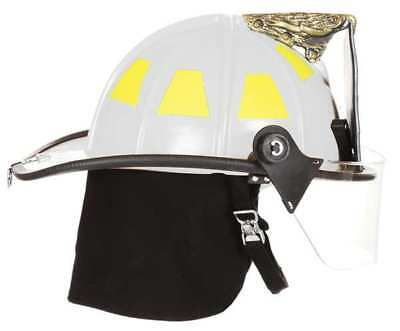 FIRE-DEX 1910H251 Fire Helmet, White, Traditional