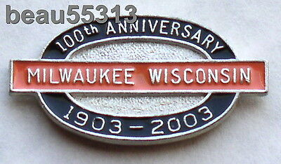 1903-2003 MILWAUKEE WISCONSIN PIN MADE FOR THE HARLEY 100th ANNIVERSARY VEST PIN