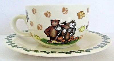 Boyds 25 Years! Cup and Saucer Paul Cardew Design 2004