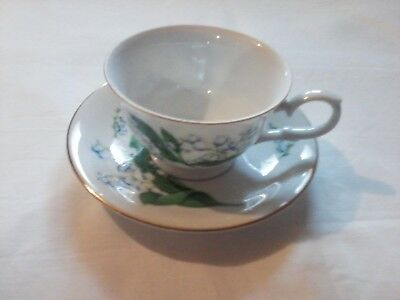 Avon May Lily Of The Valley Cup & Saucer Set 1991