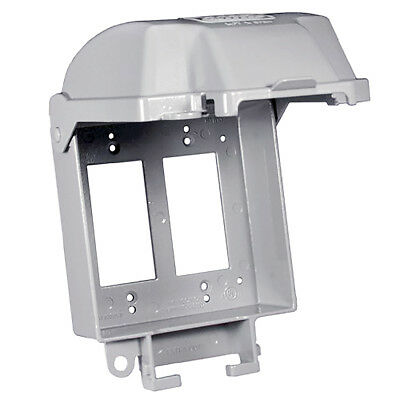 NEW Hubbell-Bell Raynguard Cover 5885-0 Double Gang GFCI Heavy Duty Metallic